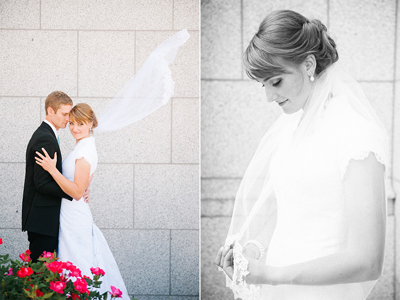 wedding photography at draper lds temple