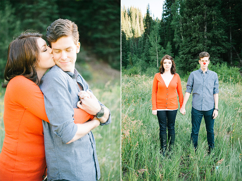 millcreek canyon engagement photos