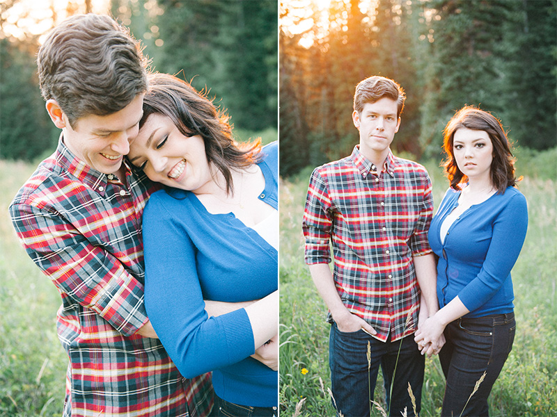 engagement photos in millcreek canyon