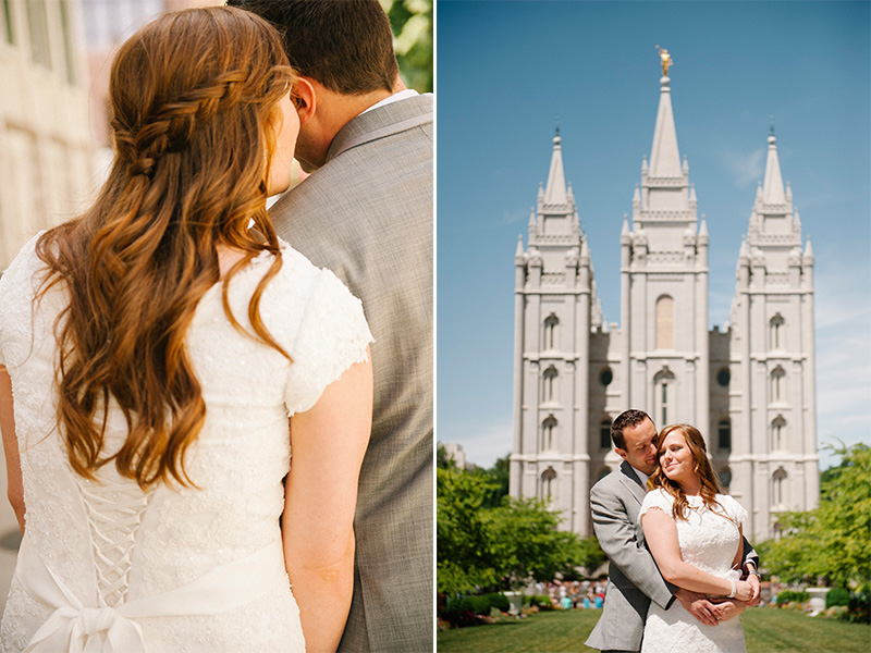 salt lake temple wedding photos