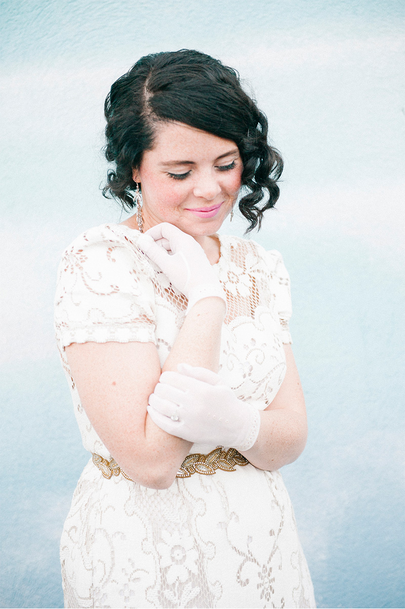 vintage bridal gloves