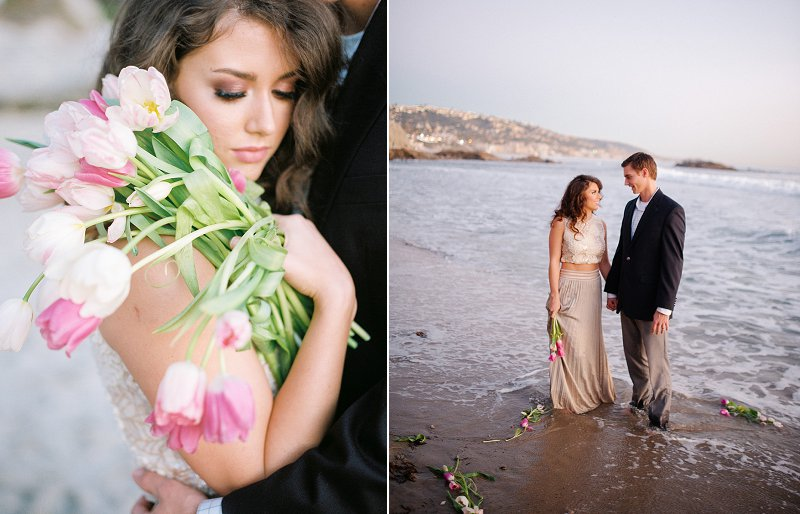 california beach wedding photos